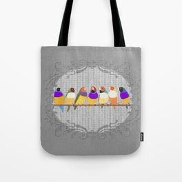 Lady Gouldian Finches Tote Bag