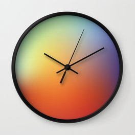 color gradient rainbow colors - abstract background Wall Clock