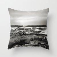 scotland Throw Pillows featuring Cramond, Scotland by Mara Brioni Art Photography