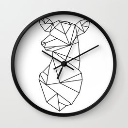 Geometric Doe (Black on White) Wall Clock