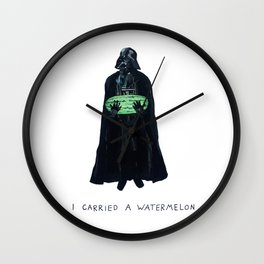 Vader Carries A Watermelon Wall Clock