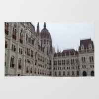 budapest hotel Area & Throw Rugs featuring Budapest  by Katarina