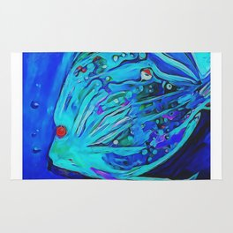 The Blue Fish Rug