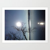 Sunrise over Green Lake Art Print