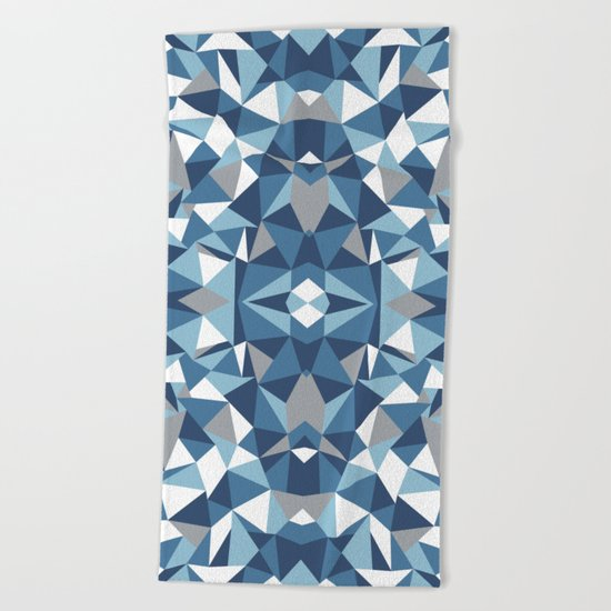 Abstract Collide Blues Beach Towel