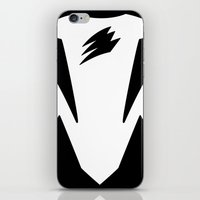 power ranger iPhone & iPod Skins featuring Black Spirit Ranger by JoSumdac