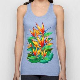 Bird of Paradise Flower Exotic Nature Unisex Tank Top
