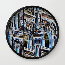Reflections in The Bourse Leeds mirror reflective glass Wall Clock