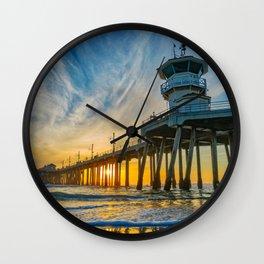 Tower Zero - Sentinel at Sunset Wall Clock