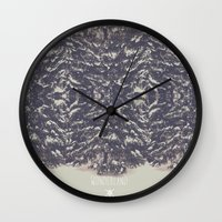 wonderland Wall Clocks featuring Wonderland by Christine VanFonda