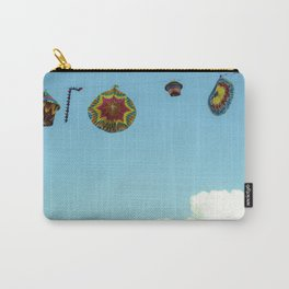 Hanging lanterns against a blue blue sky duvet cover print photography art shower curtain towel Carry-All Pouch