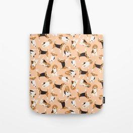 beagle scatter peach Tote Bag