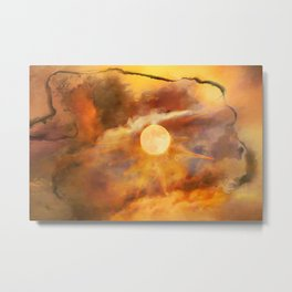 Hot Summer Dazed Ripped From Time Metal Print