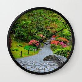 Photo Seattle USA The Kubota Washington Nature Gardens Wall Clock