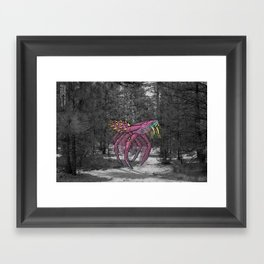 Unseen Monsters of Mount Shasta - Sqwizick Pinch Framed Art Print