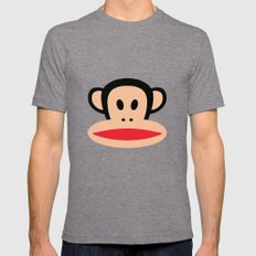 Monkey by Paul Frank Tri-Grey LARGE Mens Fitted Tee