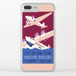 City of New York municipal airports Clear iPhone Case