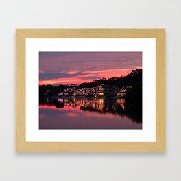 Philadelphia Boathouses Framed Art Print