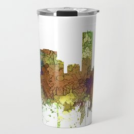 Denver, Colorado Skyline SG - Safari Buff Travel Mug