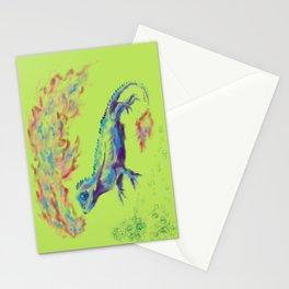 Fire-Breathing Lizard Friend Stationery Cards