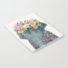 Elephant with flowers on head Notebook
