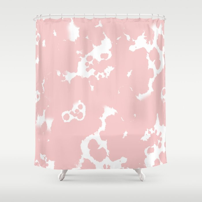 Rosequartz  Marble Pantone Color Art Print Decor Minimal Pastel Pink Girly  Hipster Marbled Shower Curtain