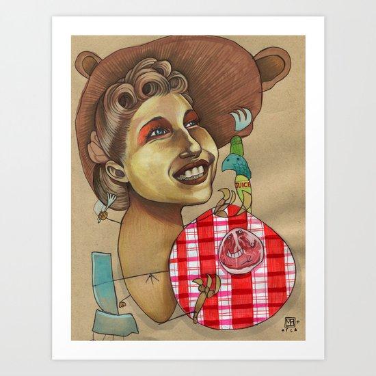 Lion Picnic Art Print