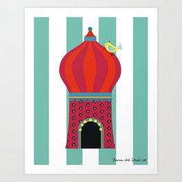 Yellow Bird Circus Time Art Print