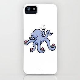 happy octopus ice cream time iPhone Case