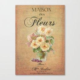 Maison des Fleurs Canvas Print