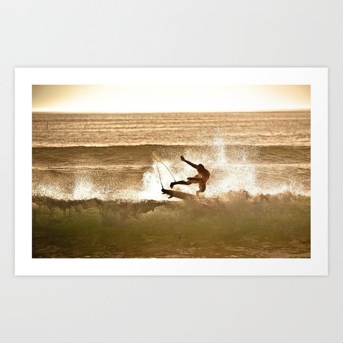 Joel Parko Parkinson Late Afternoon Surf, Hossegor- France - 2013 Art Print