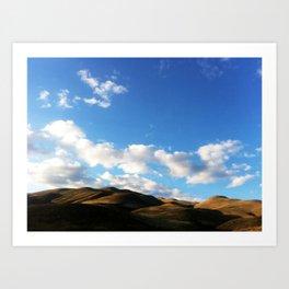 Nevada Peavine Mountain Sky Art Print