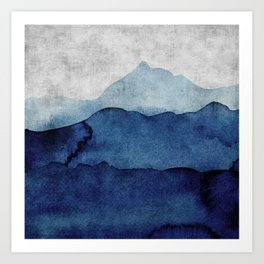 Water color landscape  Art Print