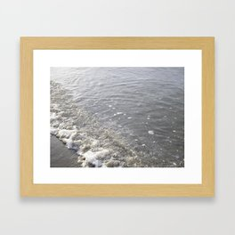 Wave Kits Beach Vancouver Framed Art Print