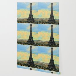 Watercolor Dream of Paris Wallpaper