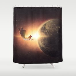 Floating Above Earth Shower Curtain
