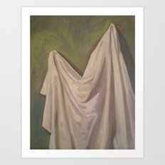 Drapery On a Green Wall Art Print