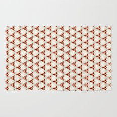 Three red pattern Rug