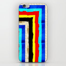 Colourful stripes bothways iPhone Skin
