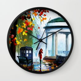 Tardis Stay Watching The Girl Wall Clock