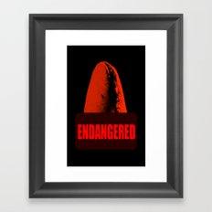 Endangered Whale shark Framed Art Print