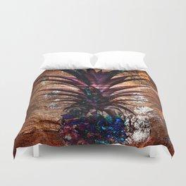 Copper Leaf Pineapple Art #buyart Duvet Cover