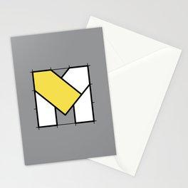 M // Perfectionist Alphabet (Pantone Ultimate Gray + Illuminating) Stationery Cards