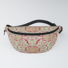 Poppy Pods, Mint, Red and Marigold Fanny Pack