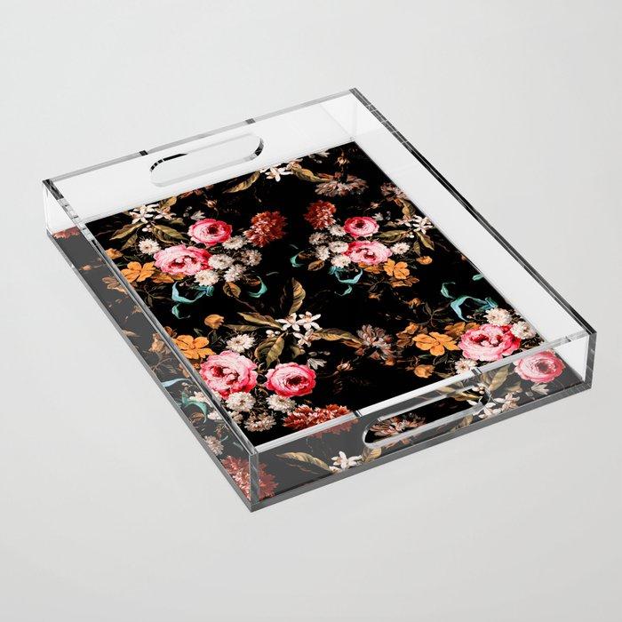 Midnight Garden IV Acrylic Tray