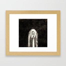where have you laid him Framed Art Print