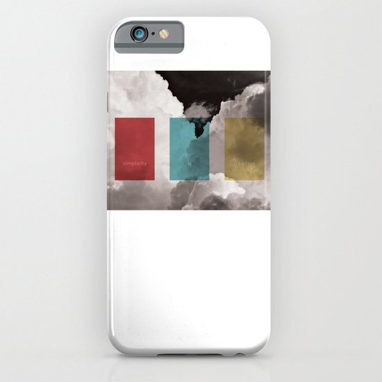 simplicity is freedom iPhone & iPod Case