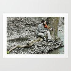 Fiddler on the Creek Art Print