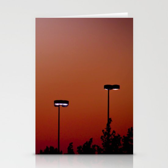 Lights in the Sunset Stationery Cards