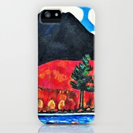Mt. Katahdin, Maine, Autumn #2 - Digital Remastered Edition iPhone Case